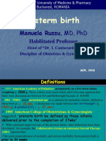 Lecture 12- Preterm Birth