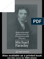 Michael Faraday, D Wood, Edward J Goetz - Experimental Researches in Chemistry and Physics (1990, Nabu Press)