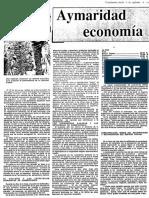 Aymaridad economía