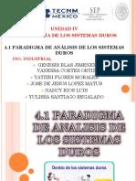 4.1 Paradigma de Analisis de Sistemas Duros