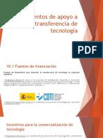 Instrumentos de apoyo para la transferencia de la tecnología