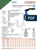 Técnico Valvula Mariposa FE-Inox-N