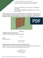 Calcular Materiales Para Un Muro