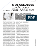 Éteres de Celulose - Utilização Como Estabilizante de Emulsões