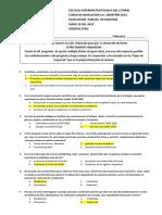 Examen de Primer Parcial de Biologia Version 0 1s 2014
