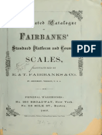 E&T Frairbanks Co. 1867. Fairbanks' Standard Scales
