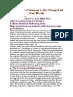 Barth Teologia Dialettica