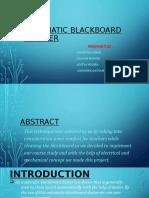 Automatic Blackboard Cleaner