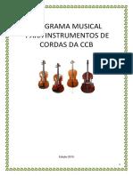 Orientações Programa Musical Para Cordas Ccb