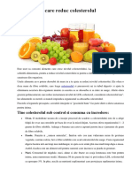 13 Alimente Care Reduc Colesterolul