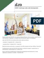 Educatie Scoala Structura Anului Scolar 2018 2019 Incepe Scoala Vacantele 1 5b67e205df52022f75108ee4 Index