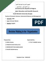Decision Maker in a Company
