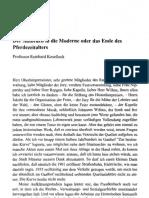 KOSELLECK - Der Aufbruch in Die Moderne Oder Das Ende Des Pferdezeitalters