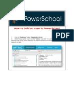 how to build an exam on powerschool