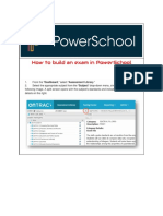 how to build an exam on powerschool