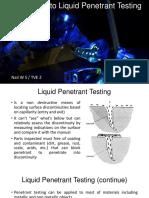 Introduction to Liquid Penetrant Testing