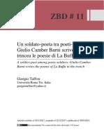Giorgio Taffon, Un soldato-poeta tra poeti-soldati
