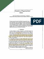 the Dynamics of Organizational Status