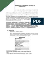 Protocolo Determinación de Viscosidad y Sedimentación