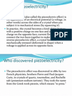 What is Piezoelectricity
