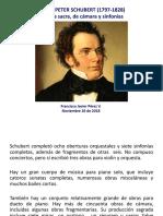 Schubert Tertulia 2 Misas Cámara Sinfonías