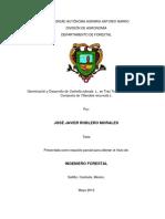 Germinación y Desarrollo de Cedrella odorata L., en Tres Tratamientos Utilizando Composta de Tillandsia recurvata L. en El Mezquite