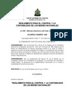 Reglamento Para El Control y La Contabilidad de Los Bienes Nacionales