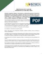 Protocolo de Emergencia PASE DEL NIÑO 2017
