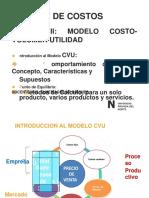 Clase Modelo Costo Volumen Utilidad 2018 2