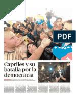 Capriles y su batalla por la democracia