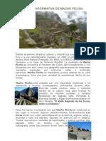Ficha Ionformativa de Machu Picchu