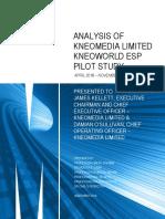 Analysis of Kneomedia Limited KneoWorld ESP Pilot Study
