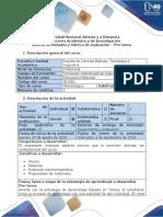 Guía de Actividades y Rúbrica de Evaluación Pre-tarea