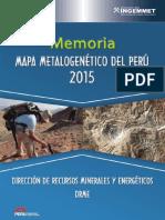 Memoria Descriptiva Metalogenetico