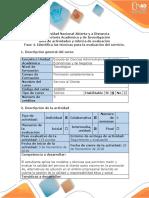 Guía de Actividades y Rúbrica de Evaluación - Fase 4. Identificar Las Técnicas Para La Evaluación Del Servicio (1)