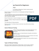 Manual&Automation Testing Basic Facts