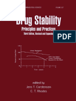 [Drugs and the Pharmaceutical Sciences] Carstensen, Jens T. - Drug Stability, Third Edition, Revised, And Expanded_ Principles and Practices (2000, CRC Press)