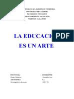 La Educacion Es Un Arte. Luis Hernández