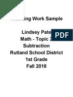 teaching work sample