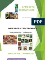 Crisis de La Biodiversidad o