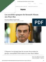 Les sociétés opaques de Renault-Nissan aux Pays-Bas