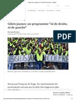 "Gilets Jaunes- Un Programme ""Ni de Droite, Ni de Gauche"""