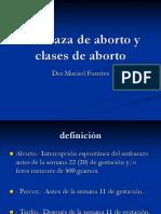Amenaza de Aborto y Clases de Aborto 2