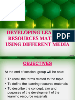 11th Developing Learning Resources using different media-1.ppt