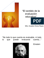 El sentido de la evaluación educativa