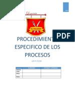 Lep-p-71110 Procedimiento Especifico de Los Procesos