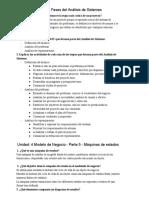 Resumen Analisis de sistemas segundo parcial