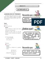 III BIM - 2do. Año - Guía 2 - Factorización II