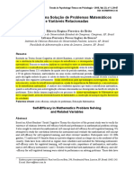 Artigo-Autoeficacia Na Solucao de Problemas Matematicos e Variaveis Relacionadas-Temas Em Psic_Ed Matematica