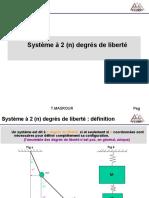 Cours dynamique des systmes Vibrations Chapitre2 Nddl1 chp01